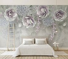 Fototapete Lila Blumentapete Wandkunst Tapeten