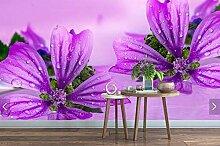 Fototapete Lilane Blumen Vlies Tapete Moderne