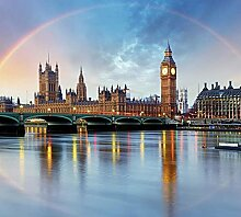 Fototapete LONDON RAINBOW 3x2,70m Deko XXL