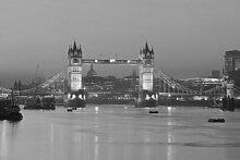 Fototapete London - Tower Bridge Bei Nacht S/W 120