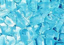 Fototapete Lust 356x252 blau beleuchtete Eiswürfel