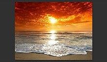 Fototapete Märchenhafter Sonnenuntergang 193 cm x