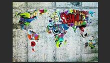 Fototapete Map - Graffiti 210 cm x 300 cm