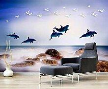 FototapeteMeer, Delfine, Möwen Moderne Wandbild