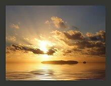 Fototapete Meer - Sonnenuntergang 154 cm x 200 cm