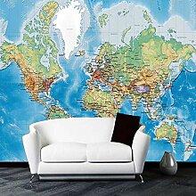 Fototapete Moderne 3D-Weltkarte Wand Tapete