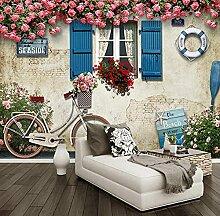 Fototapete Moderne Mediterrane Fenster Rose