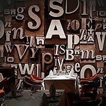 Fototapete Moderne Vintage Englisch Buchstaben