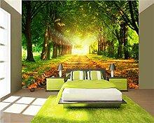 Fototapete Moderne Wanddeko Grüne Holzlandschaft