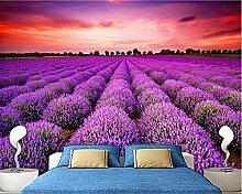 Fototapete Moderne Wanddeko Lavendel Landschaft
