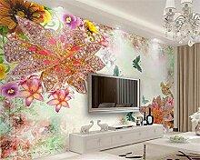 Fototapete Moderne Wanddeko Luxus Schmuck Blumen