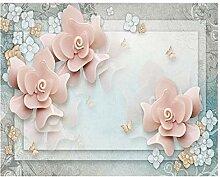 Fototapete Moderne Wanddeko Rosa Ästhetische