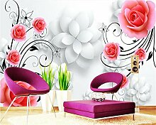 Fototapete Moderne Wanddeko Rose Dreidimensional