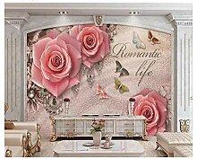 Fototapete Moderne Wanddeko Rose Jewelry New Retro