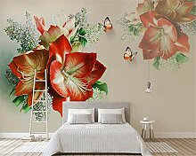 Fototapete Moderne Wanddeko Rote Blumen