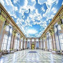 Fototapete Moderner blauer Himmel und weiße