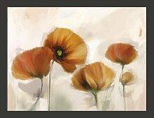Fototapete Mohnblumen - Vintage 309 cm x 400 cm