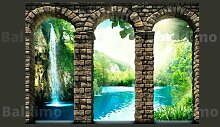 Fototapete Mysteriös Wasserfall 245 cm x 350 cm