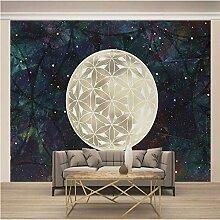 Fototapete Nacht Sternenhimmel Mond 350CM x 256CM