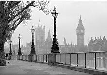 Fototapete Nebel in London 254 cm x 366 cm 8-tlg.