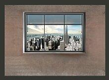 Fototapete New York Fenster 280 cm x 400 cm