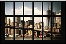 Fototapete New York - Fenster New York Brooklyn