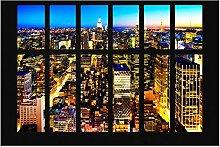 Fototapete New York - Fensterblick Manhattan