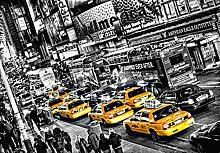 Fototapete - NEW YORK Gelbe Taxis - (116i) Größe 366x254 cm 8-teilig - Manhattan Cabs Stadt USA Landschaft Natur Wohnzimmer Kinderzimmer Küche- Motivtapete Postertapete Bildtapete Wall Mural