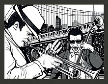 Fototapete New York, Musik, Jazz... 231 cm x 300 cm