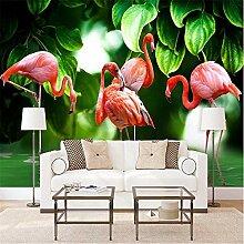 Fototapete Nordische Pflanze Verlässt Flamingo