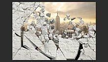 Fototapete NY – Stadt hinter der Wand 210 cm x