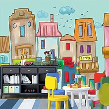 Fototapete Ölgemälde Stadt 3D Wandbilder Für