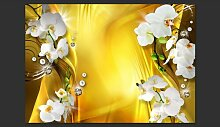 Fototapete Orchid in Gold 210 cm x 300 cm East