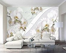 Fototapete Orchidee Muster Tv Wand 3D Tapete