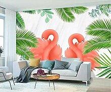 Fototapete Palmblatt, Flamingo Moderne Wandbild