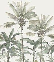 Fototapete Palmen Hellbeige und Graugrün - 158947