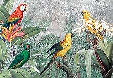 Fototapete Papagei Tiere Pflanzen Dschungel