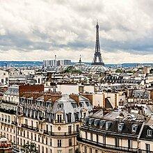Fototapete Paris Ansicht Beige und Grau - 158810 -