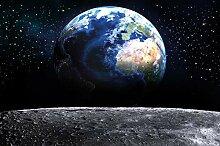 Fototapete Planet Erde Wandbild Dekoration Welt
