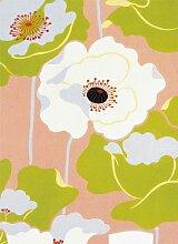 Fototapete Poppies on Silk, 4-Teilig - Größe 183 x 254 cm, Motivtapete Bildtapete Mohnblumen auf Seide Mohn Klatschmohn Mohnblume Kunst Tapete - Wall Mural