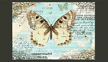 Fototapete PostkArte mit Schmetterling 280 cm x