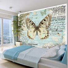 Fototapete - Postkarte mit Schmetterling