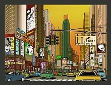 Fototapete Pulsierende Stadt - NY 193 cm x 250 cm