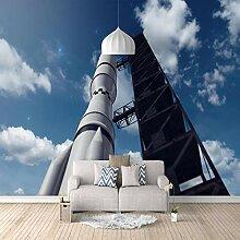 Fototapete Rakete 3D Wandbilder Für Fernseher