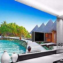 Fototapete Resort 3D Wandbilder Für Fernseher