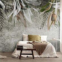 Fototapete Retro handgemalte abstrakte Kunst Blatt