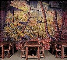 Fototapete Retro Landschaft Selbstklebende Tapeten