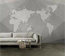 Fototapete Retro Weltkarte Geometrischen Linien