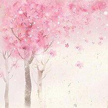 Fototapete Rosa Baum 3D Wandbilder Für Fernseher