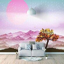 Fototapete Rosa Berge Moderne Wandbilder 3D